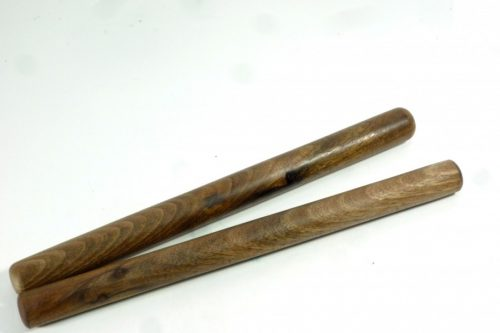 Pair of handmade wooden Asian Style dowel rolling pins in English Walnut