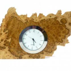 handmade wooden clock in Australian brown mallee burr wood