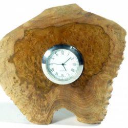 Handmade wooden clock Australian Brown Mallee Burr wood Quarts clock movement