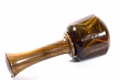 handmade carving mallet old lignum vitae English walnut handle