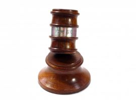 Personalised gavel and block with silver band