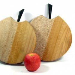 handmade hand cut pair of chopping boards lacewood